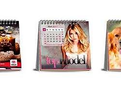 Calendário de mesa personalizado com fotos