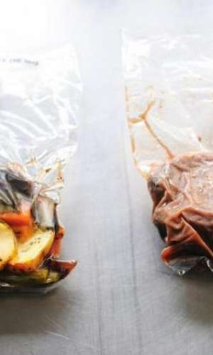 Embalagem para comida congelada