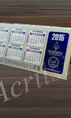 Fabricantes de calendário em acrílicos