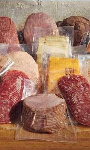 Saco plástico para embalar alimentos a vácuo